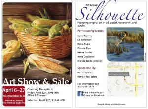 Spring Art Show and Sale with Silhouette Art Group